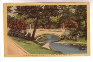 Deering Oaks, Arch Bridge, Portland, Maine,