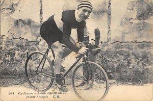 Cycliame Leon Georget Tour De France Cycliste Writing on back