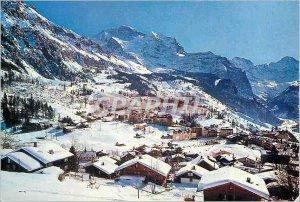 Modern Postcard Wengen Jungfrau 1274m Breithorn Grobhorn