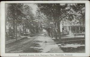Randolph VT From Mantague Place c1910 Postcard
