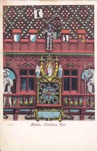 Schweiz Basel Rathaus Uhr