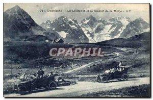 Old Postcard The Dauphine Lautaret and the Massif de la Meije Automotive