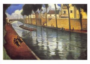 Postcard Art Canal at Charenton, France by C.R.W Nevinson MU2526 #2764