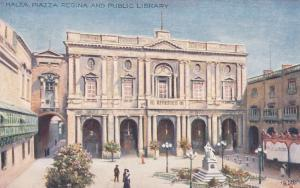 MALTA , 00-10s : Piazza Regina and Public Library, TUCK 7568