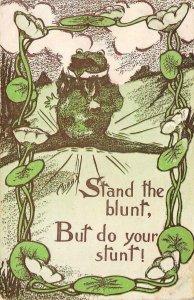Stand the blunt Frog Comic Cobb Shinn Artist-Signed c1910s Vintage Postcard