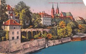 Switzerland Old Vintage Antique Post Card Basel Deutschrittergarten Und Munst...