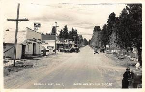 Stirling City CA Street View Chevron Gas Station Signed RPPC Postcard