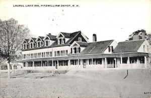 Fitzwilliam Depot New Hampshire Laurel Lake Inn Antique Postcard K102053