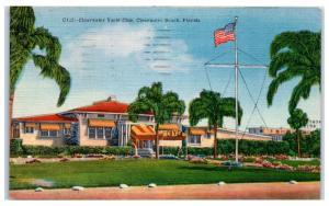 1954 Clearwater Yacht Club, Clearwater Beach, FL Postcard