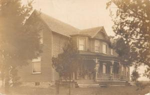 Greenwood Wisconsin Historic Home Real Photo Antique Postcard K100429