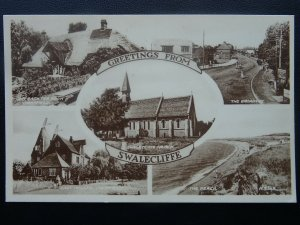 Kent SWALECLIFFE 5 Image Multiview c1950's Postcard by Valentine