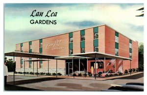 !950s/60s Lan Lea Gardens Motel and Apartments, Lutherville, MD Postcard *6J9