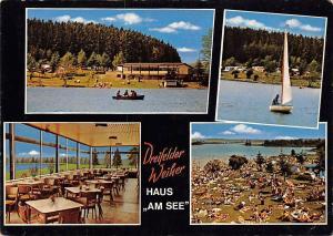 Schmidthahn Dreifelder Weiher Haus am See, Campingplatz Bootsverleih