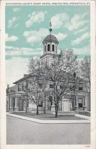 Kentucky Springfield Washington County Court House Erected 1816 1944