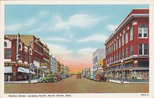 Nebraska North Platte Dewey Street Looking North Curteich
