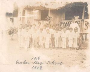 China Boys School 1909 Real Photo Antique Snap Shot Non Postcard Back J76166