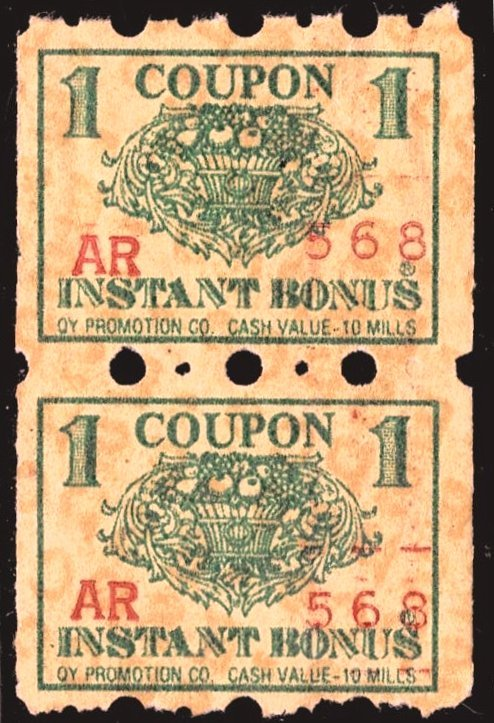 Oy Promotion Co Instant Bonus Coupon - pair - tear @ top