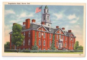 Legislative Hall Dover Delaware DE Vintage Linen Postcard