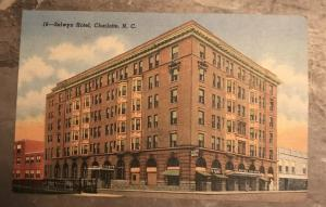 Selwyn Hotel Charlotte North Carolina Linen Postcard