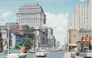 Looking East On Dorchester St. W/The Sun Life Bldg, People's Pharmacy/Drug St...