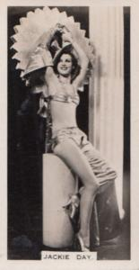 Jackie Day Hollywood Actress Rare Real Photo Cigarette Card