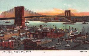 Brooklyn Bridge, New York City. Early Postcard, Unused