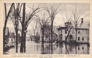 Vermont Montpelier Flood Scene Barre Street Looking Toward Main Street 1927 A...
