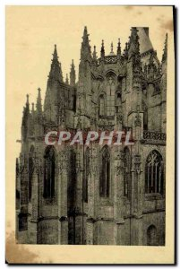 Old Postcard Mont Saint Michel Abbey Chevet of the abbey & # 39eglise