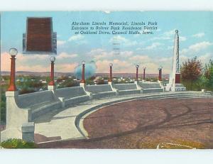 Pre-1980 PARK SCENE Council Bluffs Iowa IA hk6910