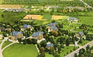VA - Richmond. Aerial View, Virginia Union University.  VERY RARE