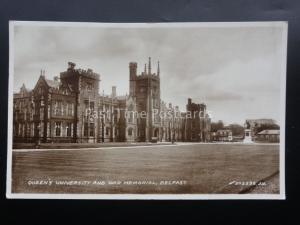 N. Ireland BELFAST Queen's University and War Memorial c1937 RP