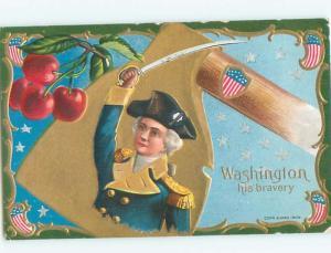 Divided-Back GEORGE WASHINGTON SCENE Patriotic Postcard AB0159