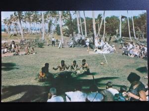 Fiji: Beachcomber Hotel, Deuba, ceremony & Mekes dance - 1950's Old Postcard