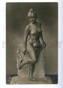 176687 NUDE BELLE Woman as STATUE Vintage PHOTO PC