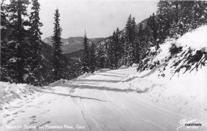 1940s Monarch Pass Colorado Winter Scene Sanborn RPPC real photo postcard 4467