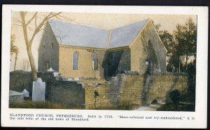 4120) Virginia PETERSBURG Blandford Church Built in 1738 - Divided Back