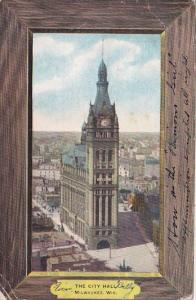 Wisconsin Milwaukee The City Hall 1908