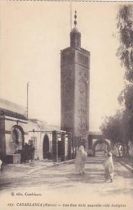 Une Rue Dela Nouvelle Ville Indigene, Casablanca, Morocco, 1900-1910s