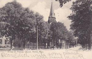 Street view, St. Patricks Church, Natick, Massachusetts,  PU-1906