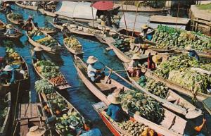Thailand Bangkok Wad Sai Floating Market