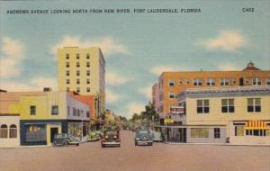 Florida Fort Lauderdale Andrews Avenue Looking North From New River 1942