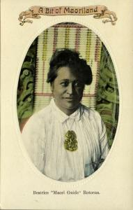 new zealand, ROTORUA, Beatrice Maori Guide, Necklace Jewelry (1910s) Maoriland
