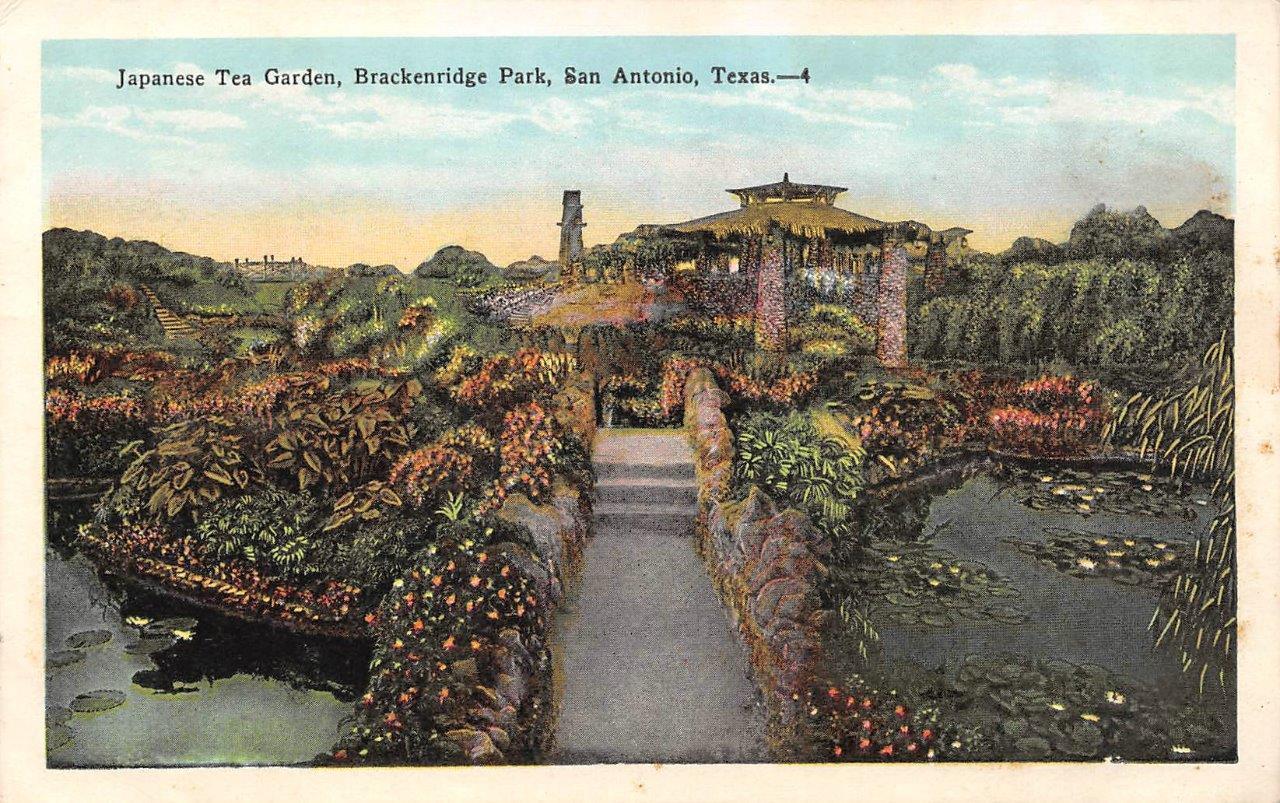 SAN ANTONIO, Texas BRACKENRIDGE PARK-Japanese Tea Garden c1920\'s ...