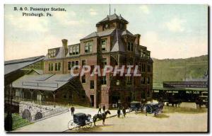 Postcard Old Passenger Train Station Pittsburgh Pa