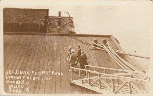 RP: HONOLULU, Hawaii, 1900-10s; Sec. Knox & Mrs. Knox leaving ship