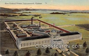 New Federal Prison Leavenworth, Kansas USA Prison 1913