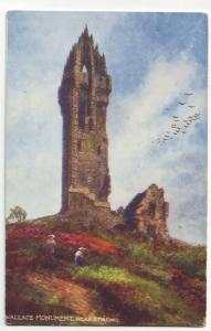 P430 JL old tucks postcard wallace monument, near sterling