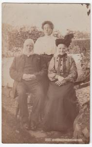 Edwardian Family Group RP PPC, Unposted, By Dyer Of Torrington, c 1900's
