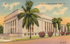 Exterior, First Church of Christ Scientist,Miami,Florida,PU-1945