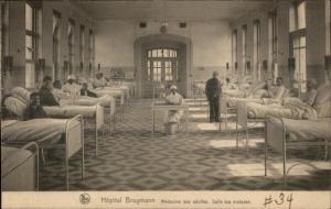 Bruxelles Belgium Hospital Hopital Brugmann c1915 Postcard #1